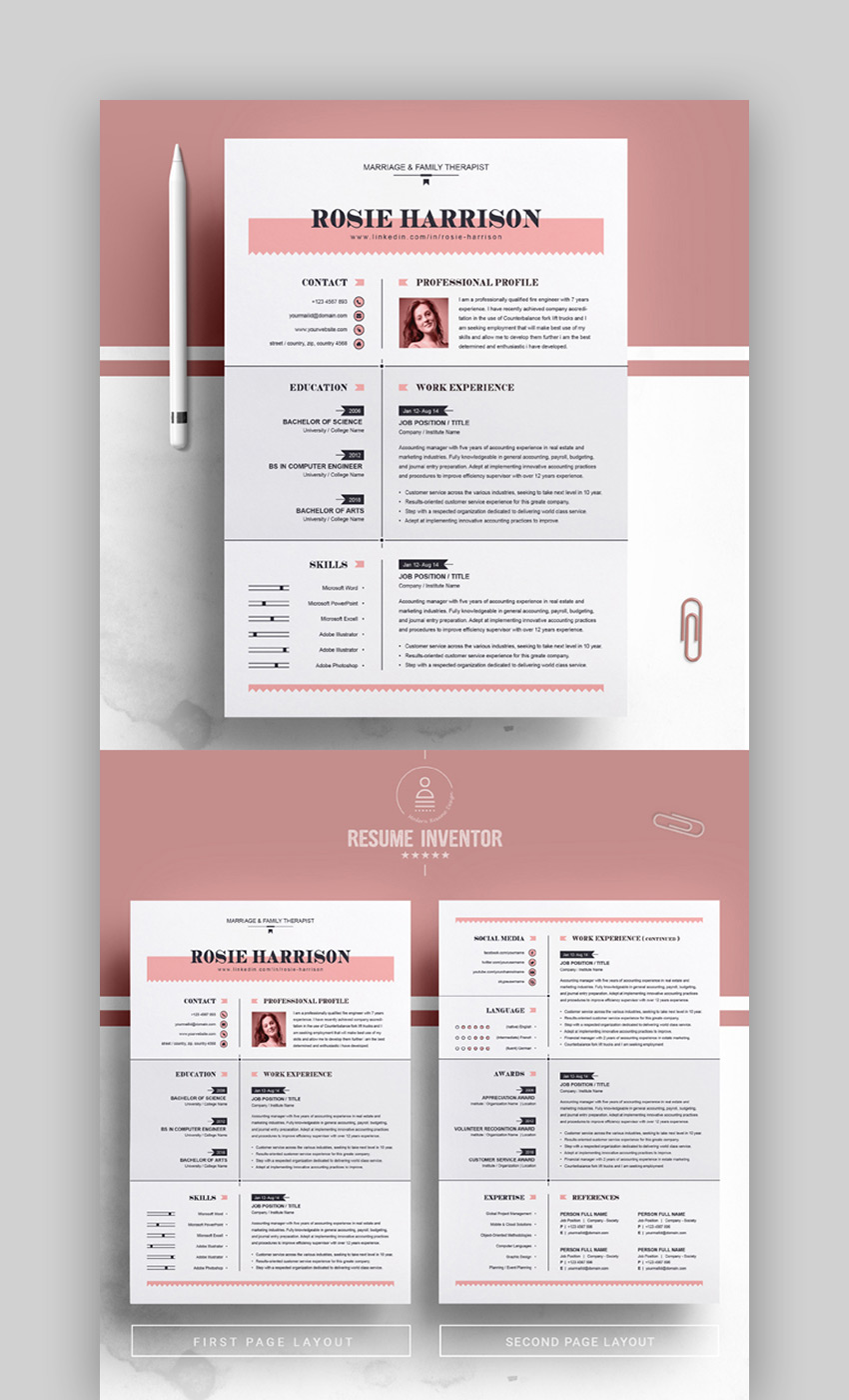 best contemporary resume cv templates new modern styles for template certified surgical Resume Modern Resume Template 2020