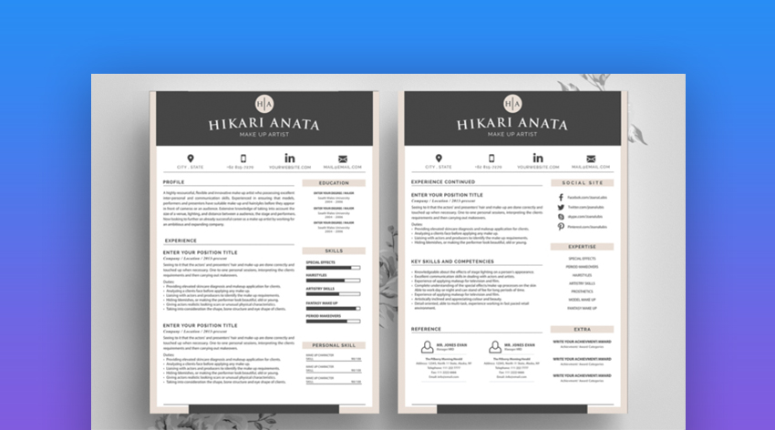 best contemporary resume cv templates new modern styles for template elements2 zipjob Resume Modern Resume Template 2020
