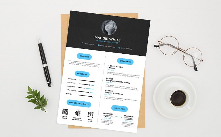 best creative resume cv templates printable professional college template work and Resume Professional Resume 2020