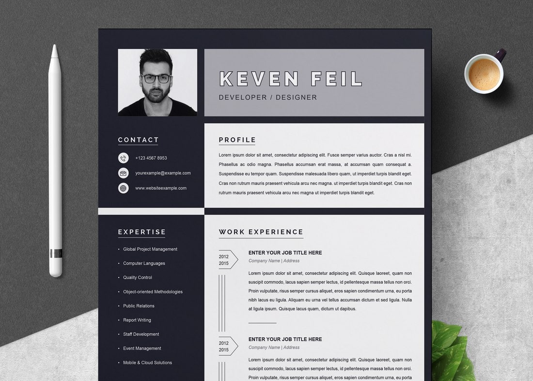 best cv resume templates design shack attractive free black template secondary school Resume Attractive Resume Templates Free Download
