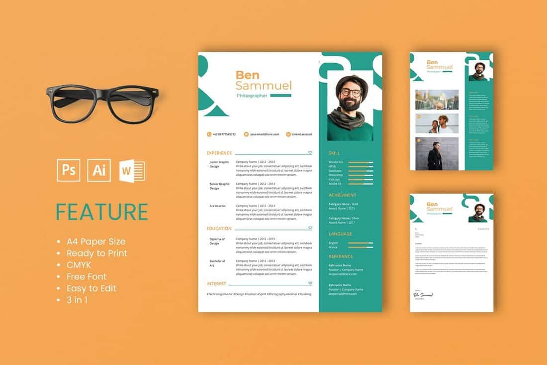 best cv resume templates design shack graphic size sam professional and template Resume Graphic Design Resume Size