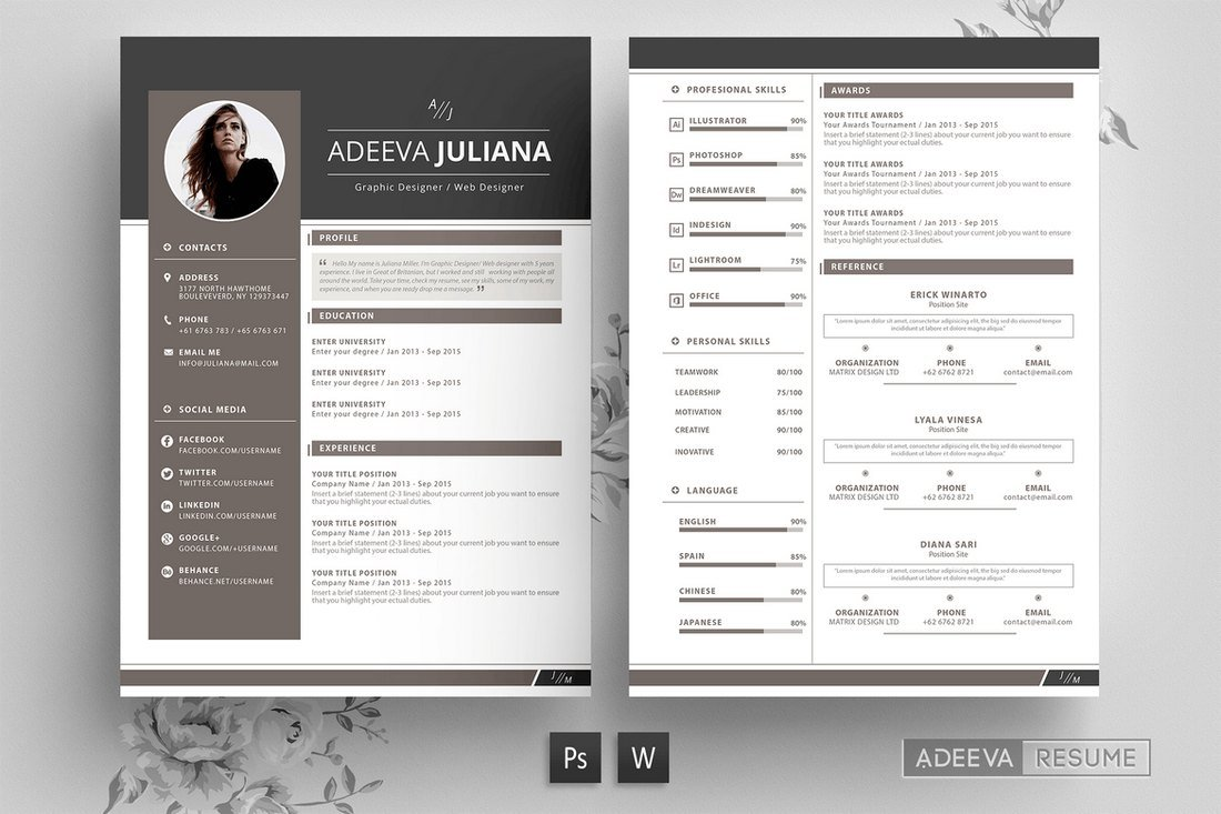 best cv resume templates design shack layout julianna modern template hospital Resume Best Resume Layout 2020
