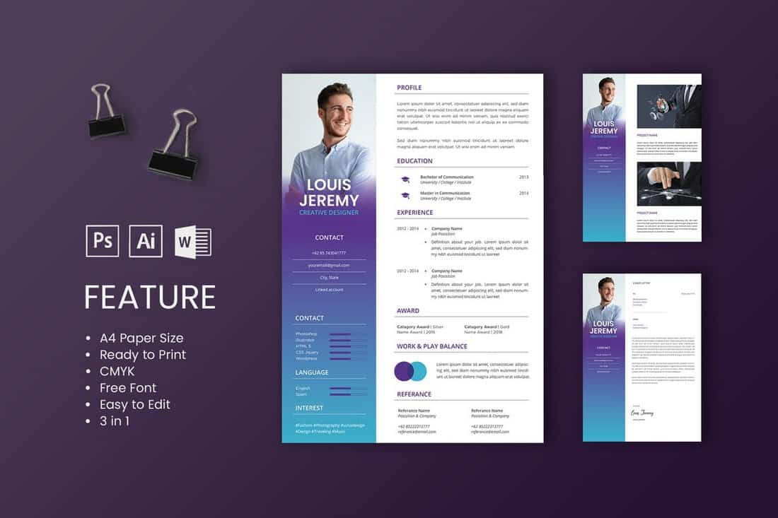 best cv resume templates design shack professional and creative louis template fraternity Resume Professional And Creative Resume Templates