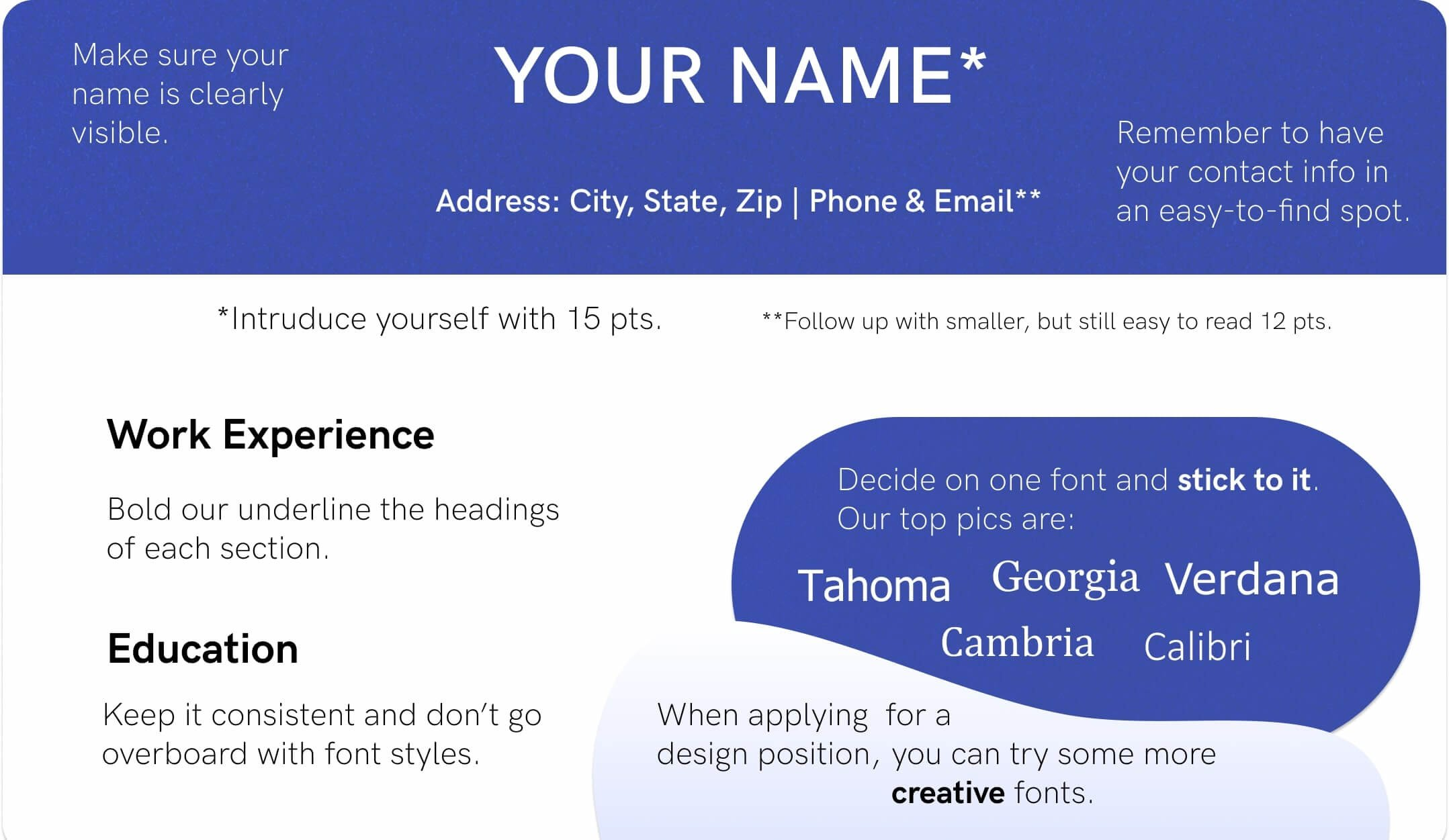 best font for resume size standard professional pairings format fonts example pre service Resume Resume Format Font Size