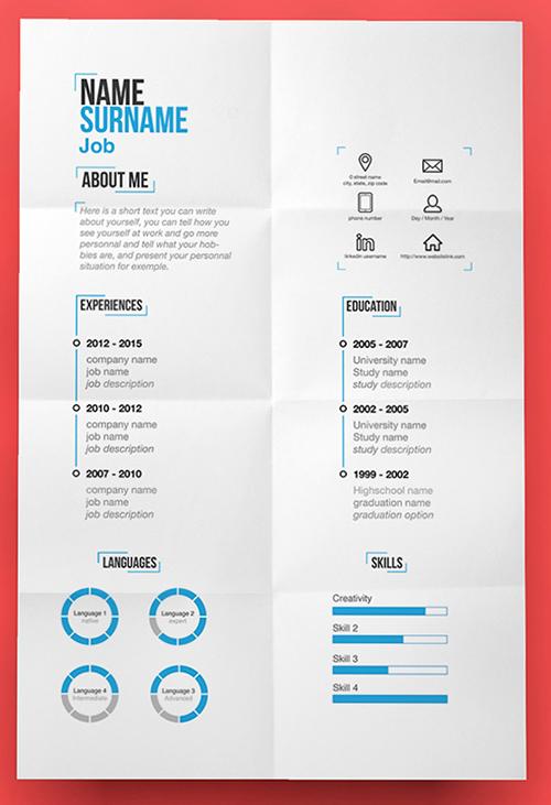 best free creative resume templates updated pictorial modern template entertainment Resume Pictorial Resume Templates