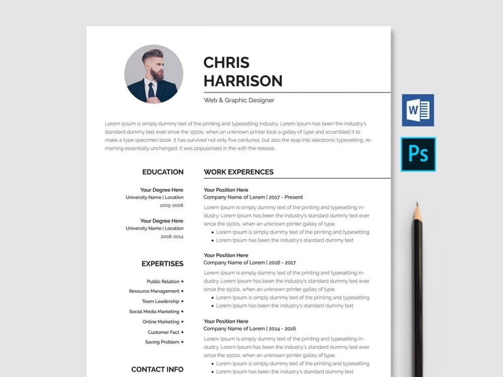 best free ms word resume templates webthemez template cv with photo now traits for Resume Free Resume Templates 2020 With Photo