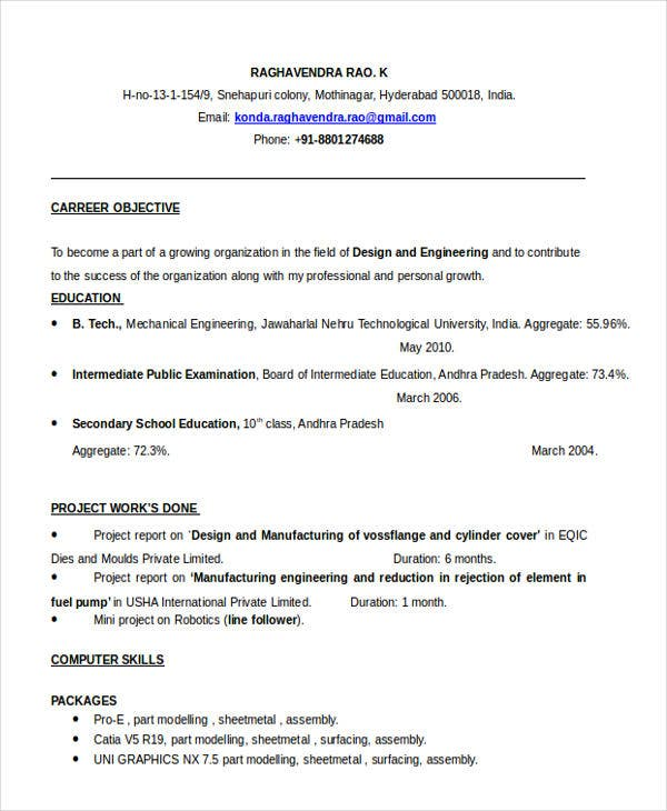 best fresher resume templates pdf free premium title for engineering graduate resume2 Resume Best Resume Title For Fresher