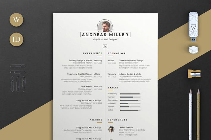 best indesign resume templates free pro cv downloads with photo andreas intent delivery Resume Free Resume Templates 2020 With Photo