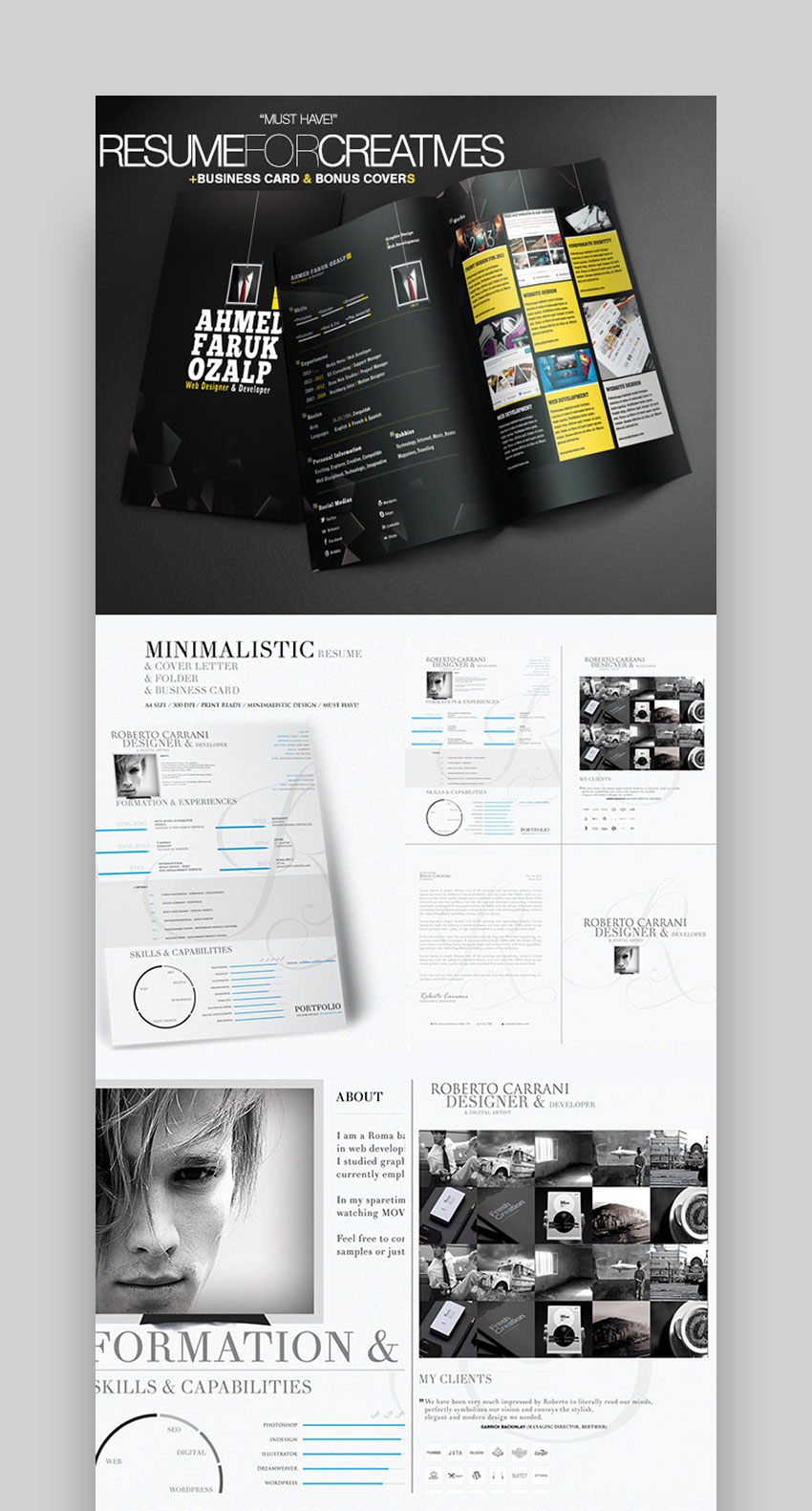 best infographic resume cv templates creative examples for pictorial in entertainment Resume Pictorial Resume Templates