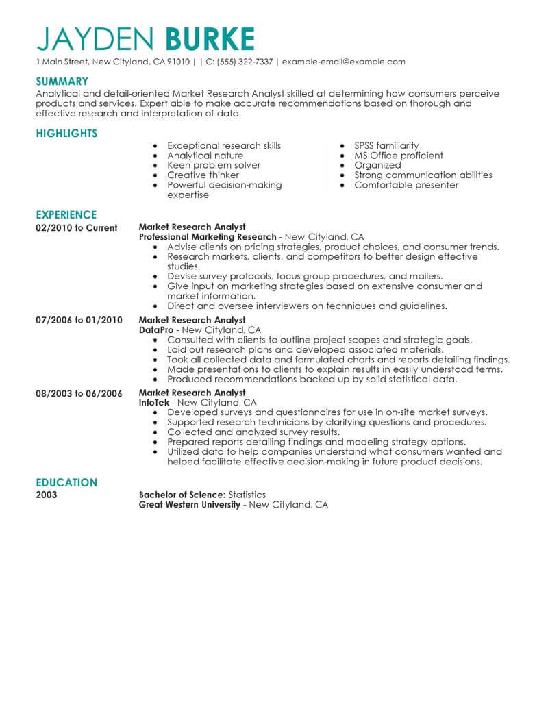 best market researcher resume example livecareer research examples marketing contemporary Resume Research Resume Examples