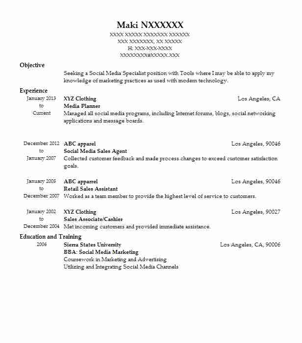 best media planner resume example livecareer objective for marketing graduate help with Resume Resume Objective For Marketing Graduate