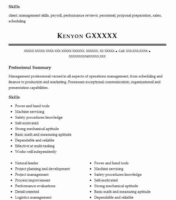 best operations manager resume example livecareer summary for music education examples Resume Operations Manager Summary For Resume