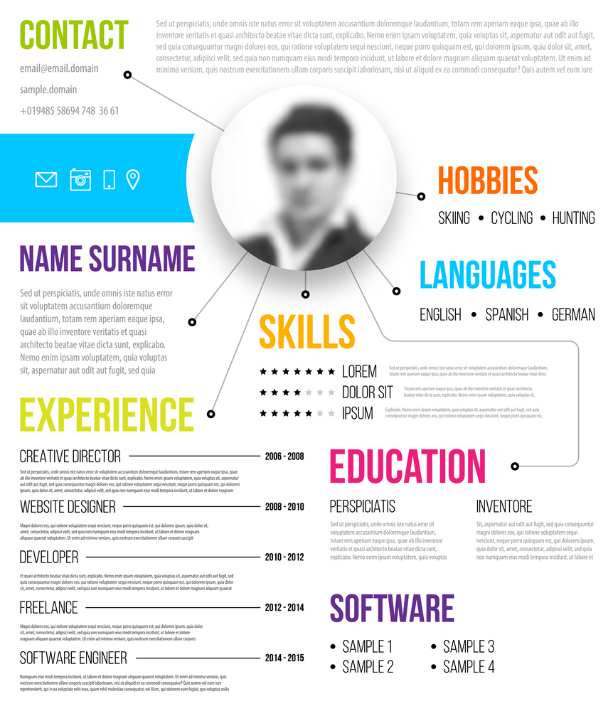 best practices for using infographic resumes create resume bigstock cv template minimalis Resume Create Infographic Resume