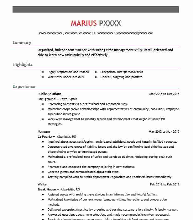 best public relations resume example livecareer skills typeface for entry level clinical Resume Public Relations Skills Resume