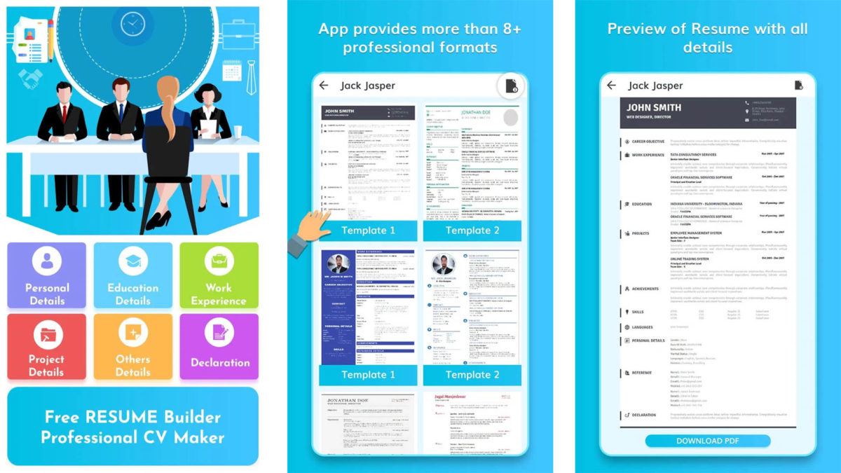 best resume builder apps for android authority free and screenshot 1200x675 lpn cover Resume Free Resume Builder And Download
