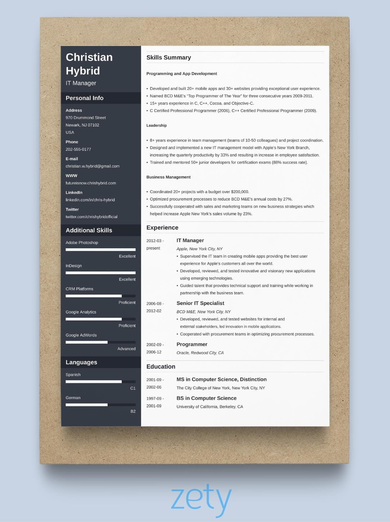 best resume format professional samples current styles telecom winning cfi creative event Resume Current Resume Styles Samples