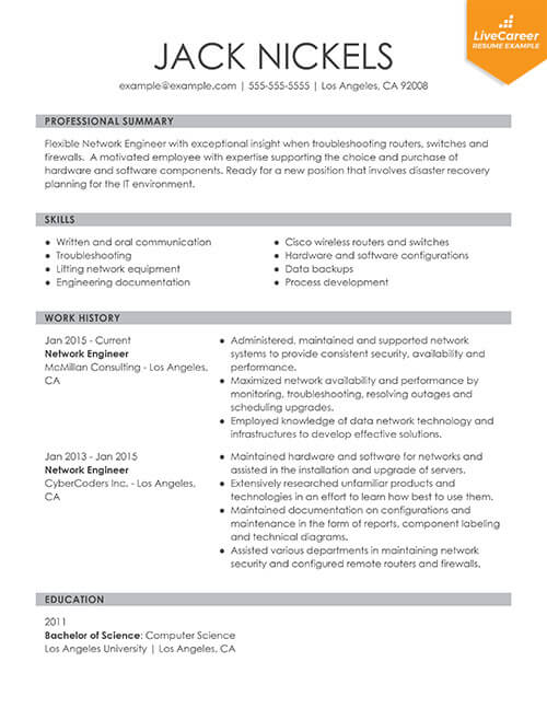 best resume formats of livecareer format for job interview functional thumb barista Resume Best Resume Format For Job Interview