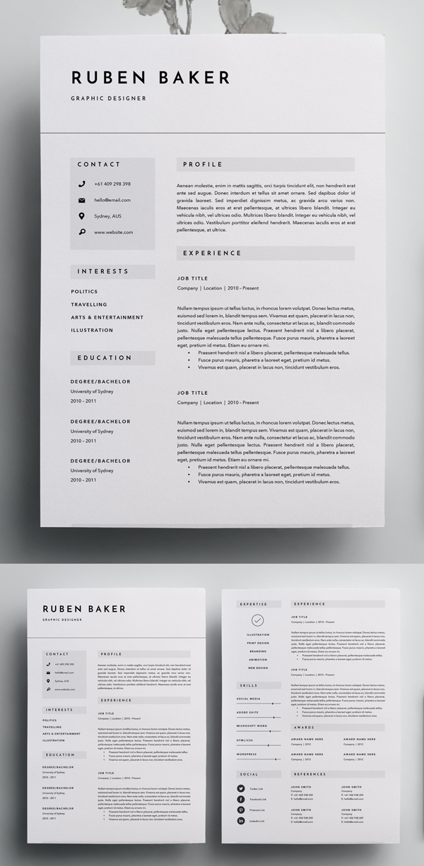 best resume templates for design graphic junctiongraphic junction modern template Resume Modern Resume Template 2020