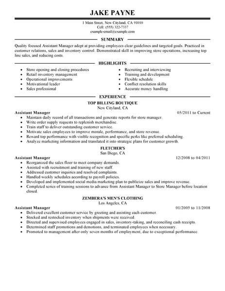 best retail assistant manager resume example livecareer sample executive 463x600 home Resume Retail Assistant Resume Sample