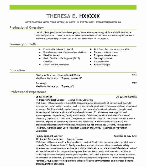 best social worker resume example livecareer work examples college student for summer Resume Social Work Resume Examples 2020