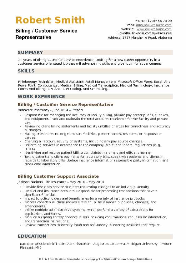 billing customer service representative resume samples qwikresume job description pdf Resume Customer Service Representative Job Description Resume