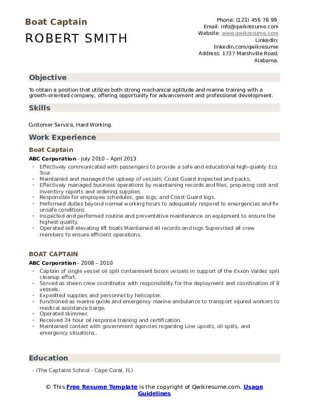 boat captain resume samples qwikresume examples for men pdf cardiology medical assistant Resume Resume Examples For Men