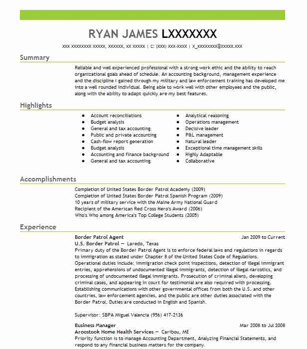 border patrol resume templates cbp officer example aid and reference sheet sample for Resume Cbp Officer Resume Aid And Reference Sheet