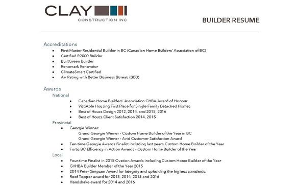 builder resume by construction inc in langley alignable residential home makeup examples Resume Residential Home Builder Resume