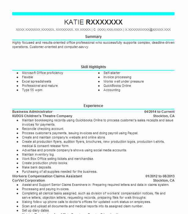 business administrator resume example livecareer administration examples sap erp sample Resume Business Administration Resume Examples