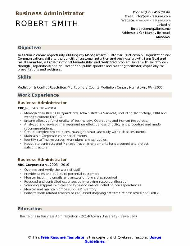 business administrator resume samples qwikresume administration examples pdf dental front Resume Business Administration Resume Examples