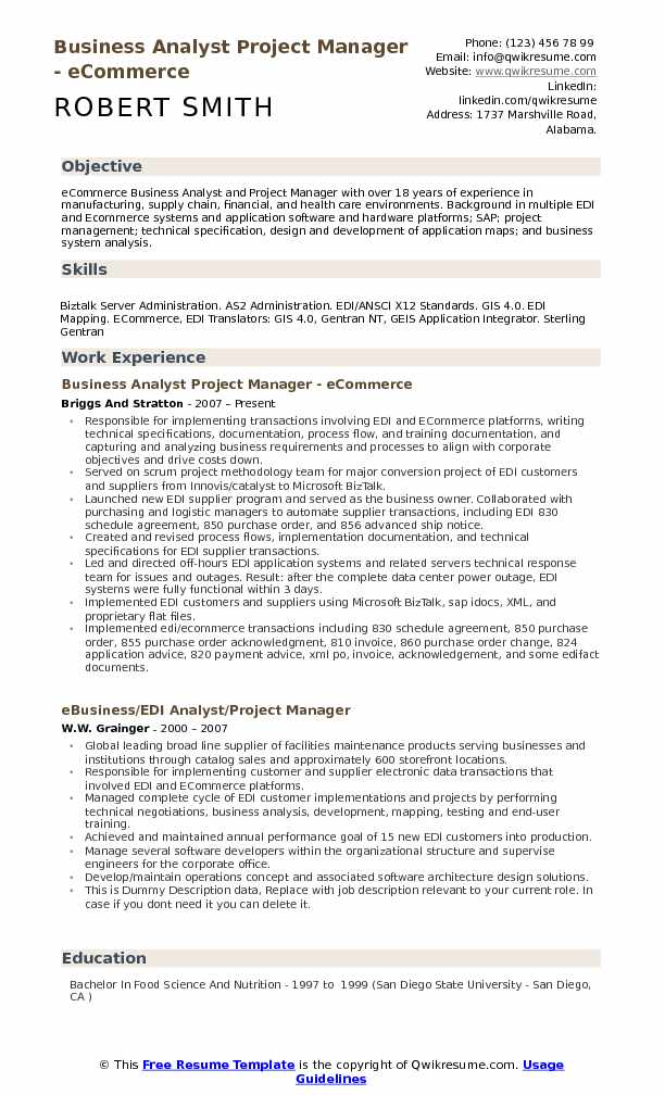 business analyst project manager resume samples qwikresume aem pdf style guide best Resume Aem Business Analyst Resume