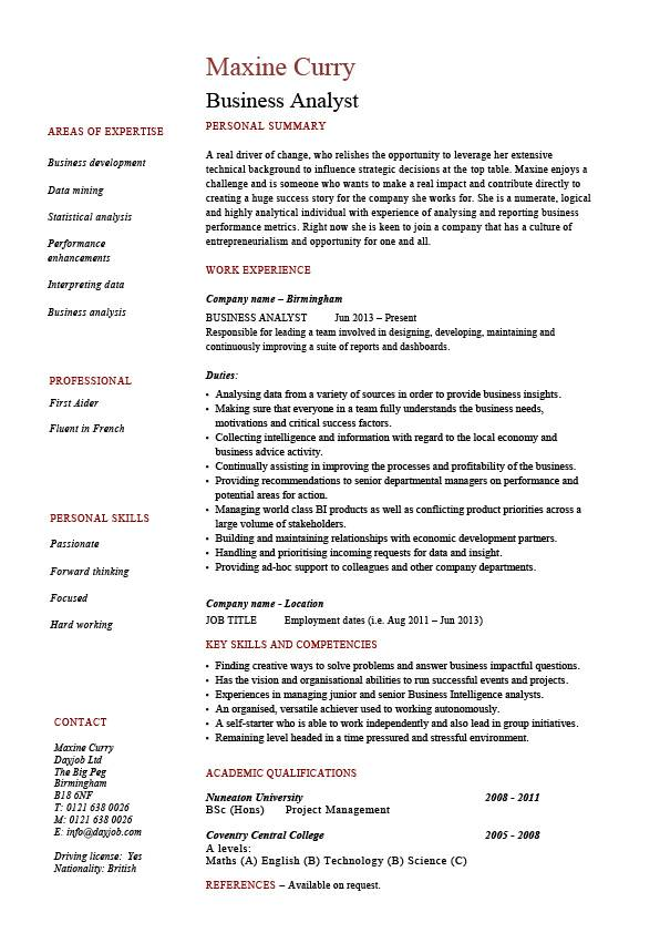 business analyst resume example sample professional skills operations jobs examples pic Resume Analyst Resume Examples