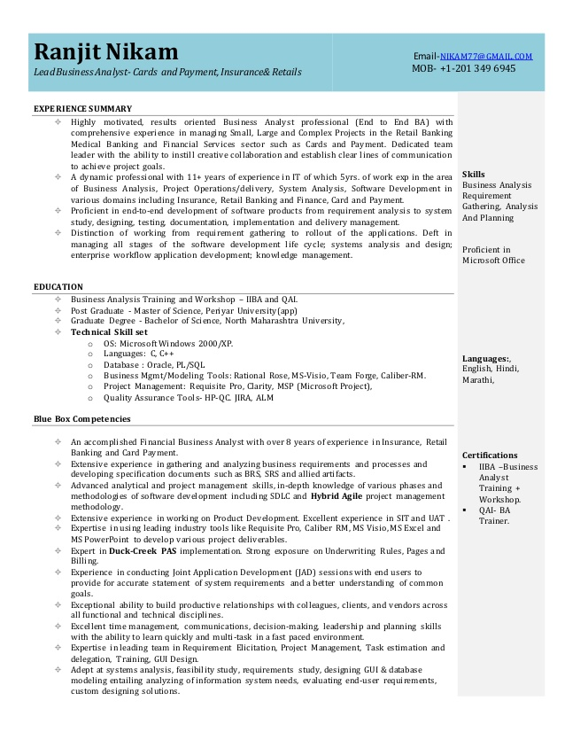 business analyst resume for experienced businessanalystresume kelly services submission Resume Resume For Experienced Business Analyst