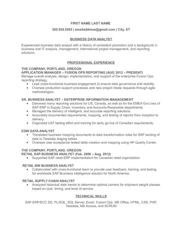 business data analyst resume summary examples create google ex military cna template Resume Data Analyst Resume Summary Examples