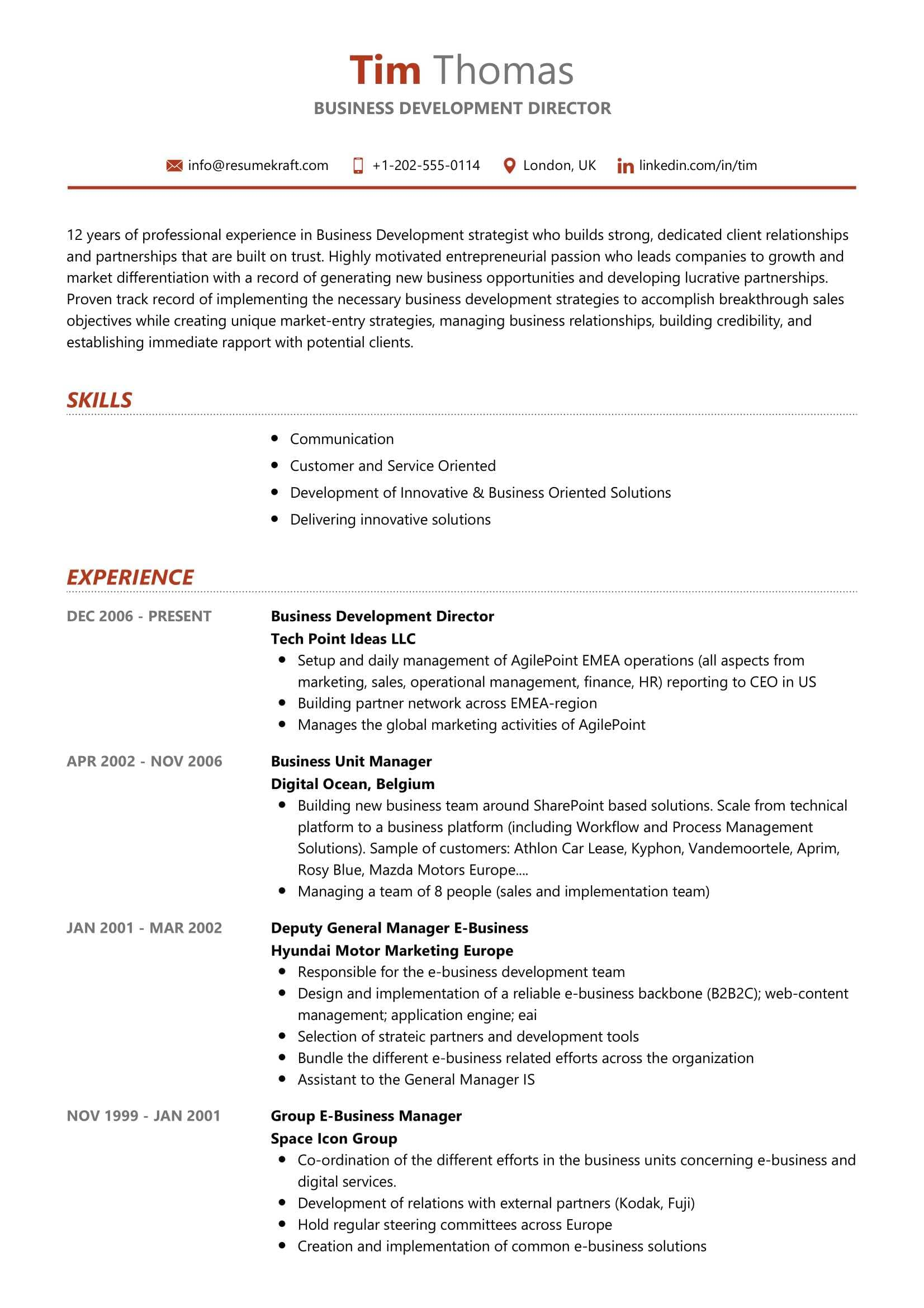 business development director resume sample resumekraft of yoga instrument technician Resume Director Of Development Resume