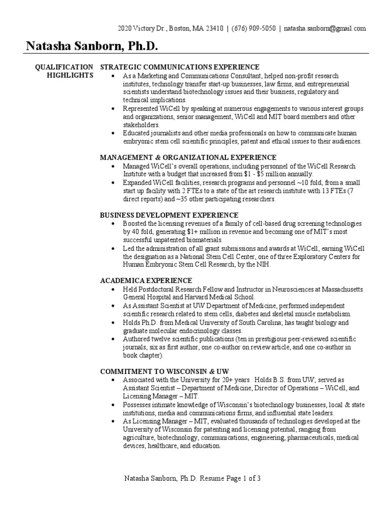 business development executive resume sample biotechnology institute of technology Resume Business Development Executive Resume Template