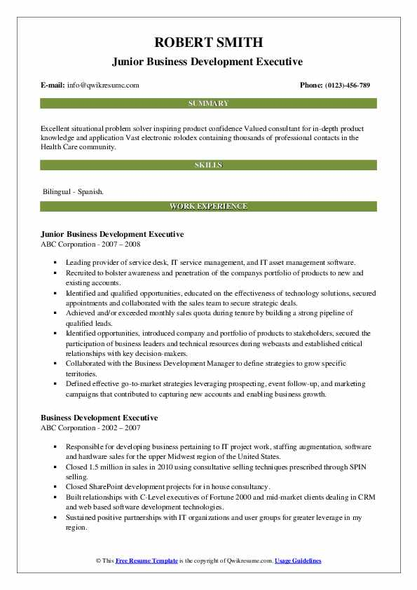 business development executive resume samples qwikresume template pdf best font size for Resume Business Development Executive Resume Template