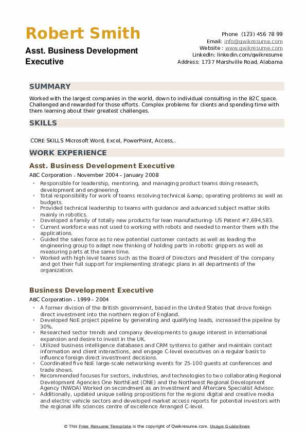 business development executive resume samples qwikresume template pdf financial modelling Resume Business Development Executive Resume Template