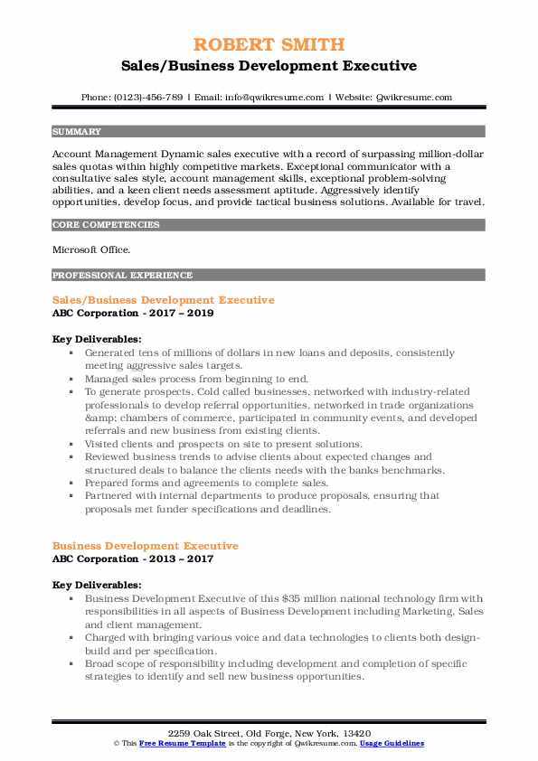 business development executive resume samples qwikresume template pdf first year college Resume Business Development Executive Resume Template