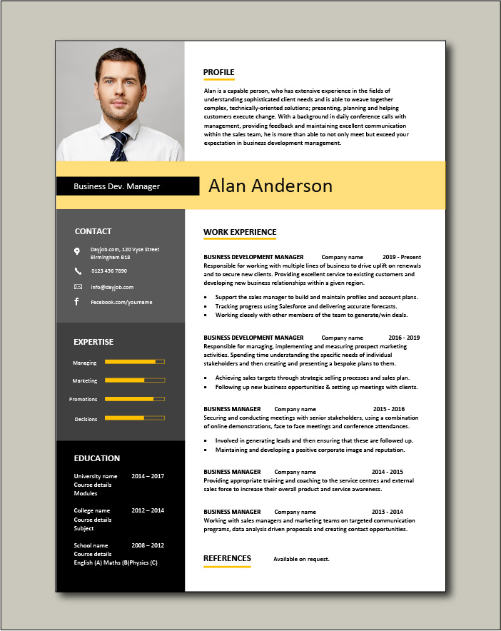 business development manager cv template managers resume marketing job application Resume Business Owner Resume Template