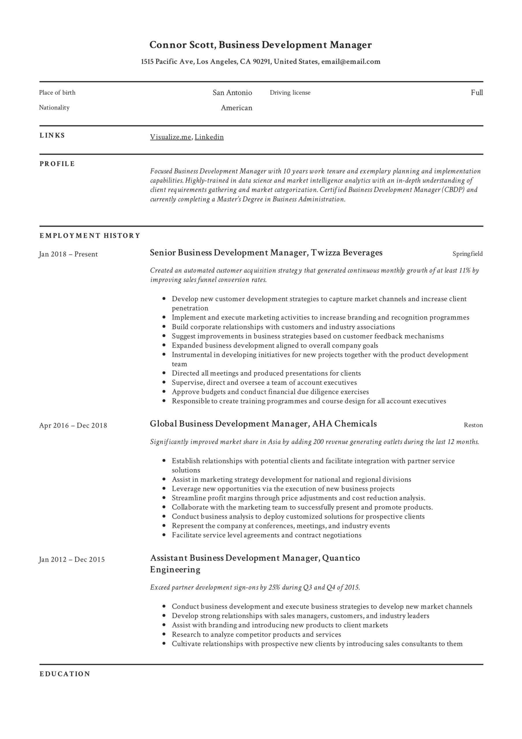business development manager resume guide templates pdf director of writing for Resume Director Of Development Resume