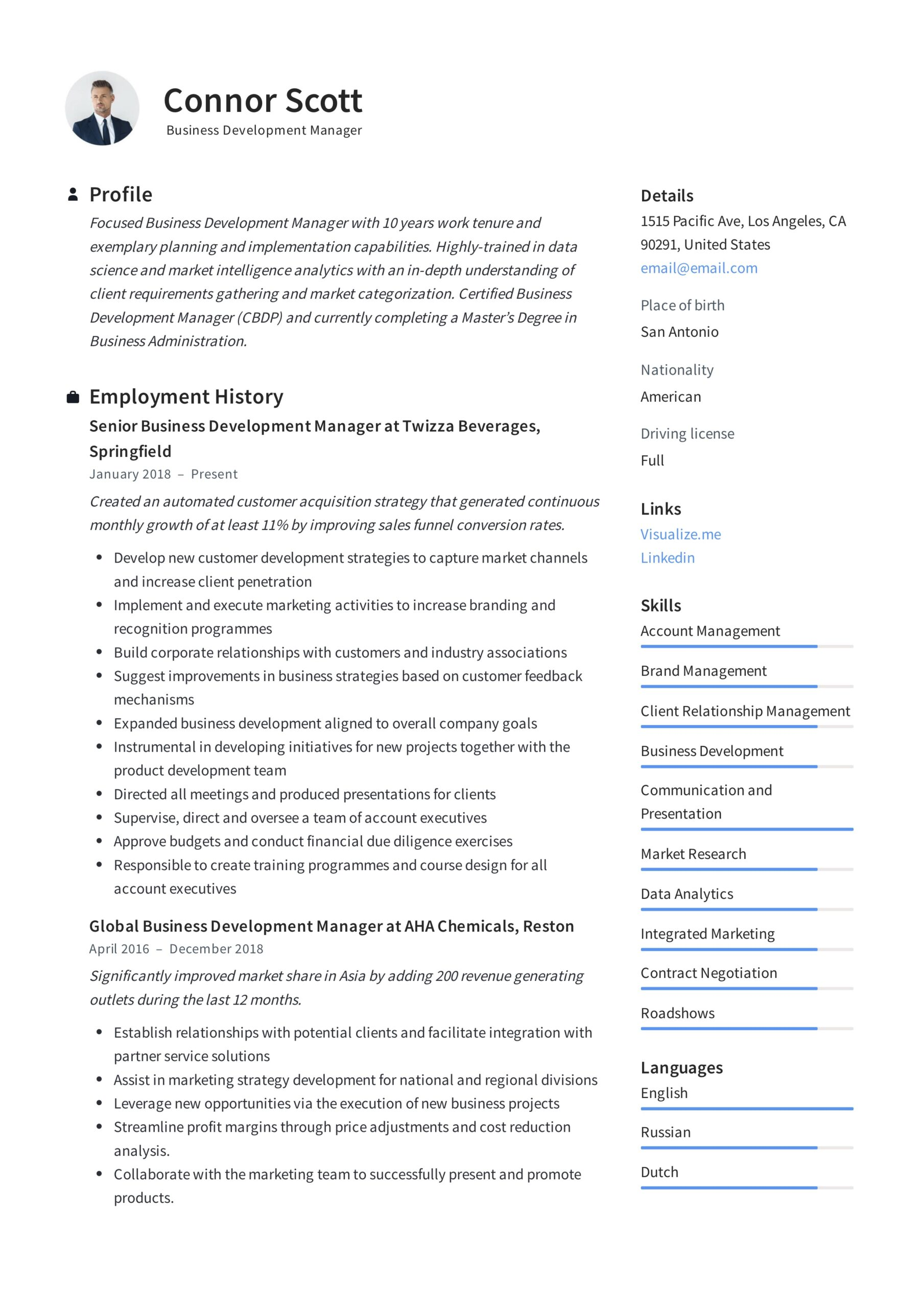 business development manager resume guide templates pdf should put home address on Resume Business Manager Resume