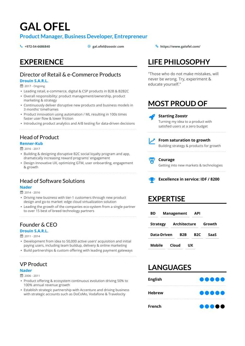 business development resume samples and writing guide for enhancv about yourself examples Resume Resume About Yourself Examples