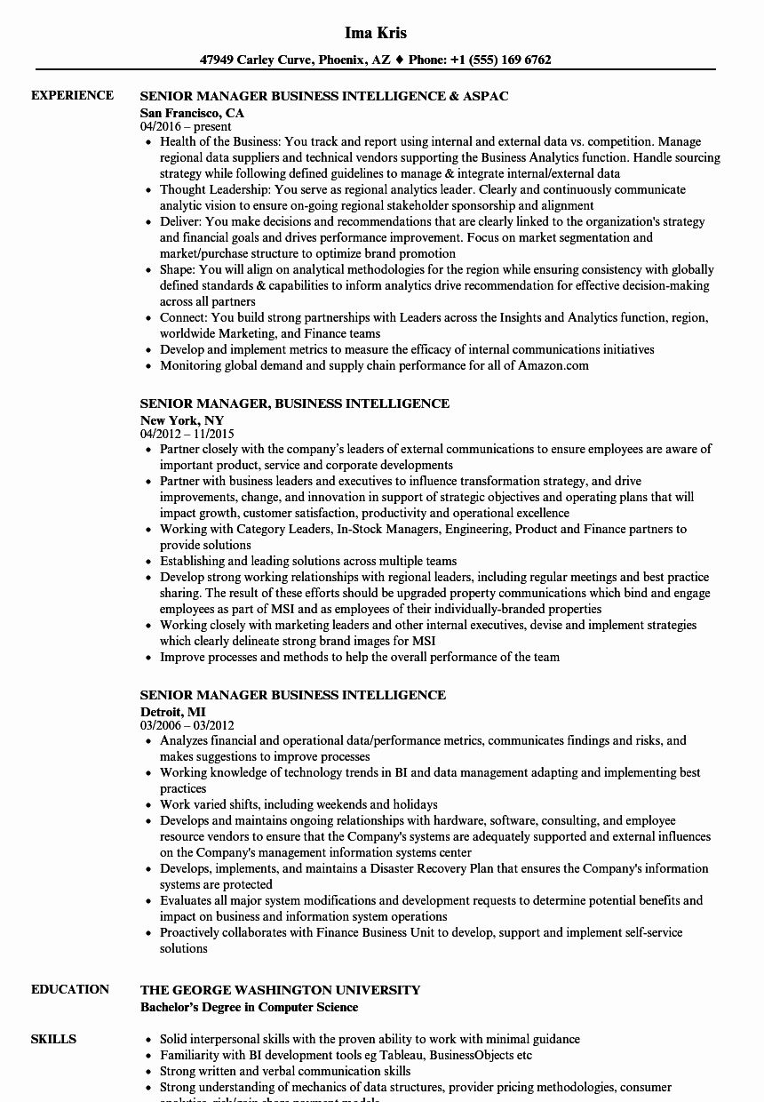 business intelligence analyst resume luxury senior manager samples template reddit Resume Business Intelligence Manager Resume