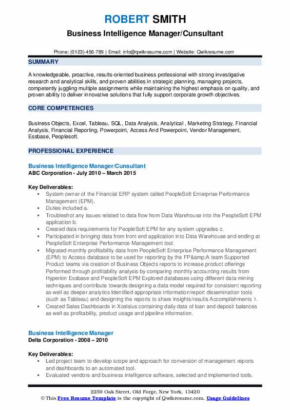 business intelligence manager resume samples qwikresume pdf nonprofit executive director Resume Business Intelligence Manager Resume