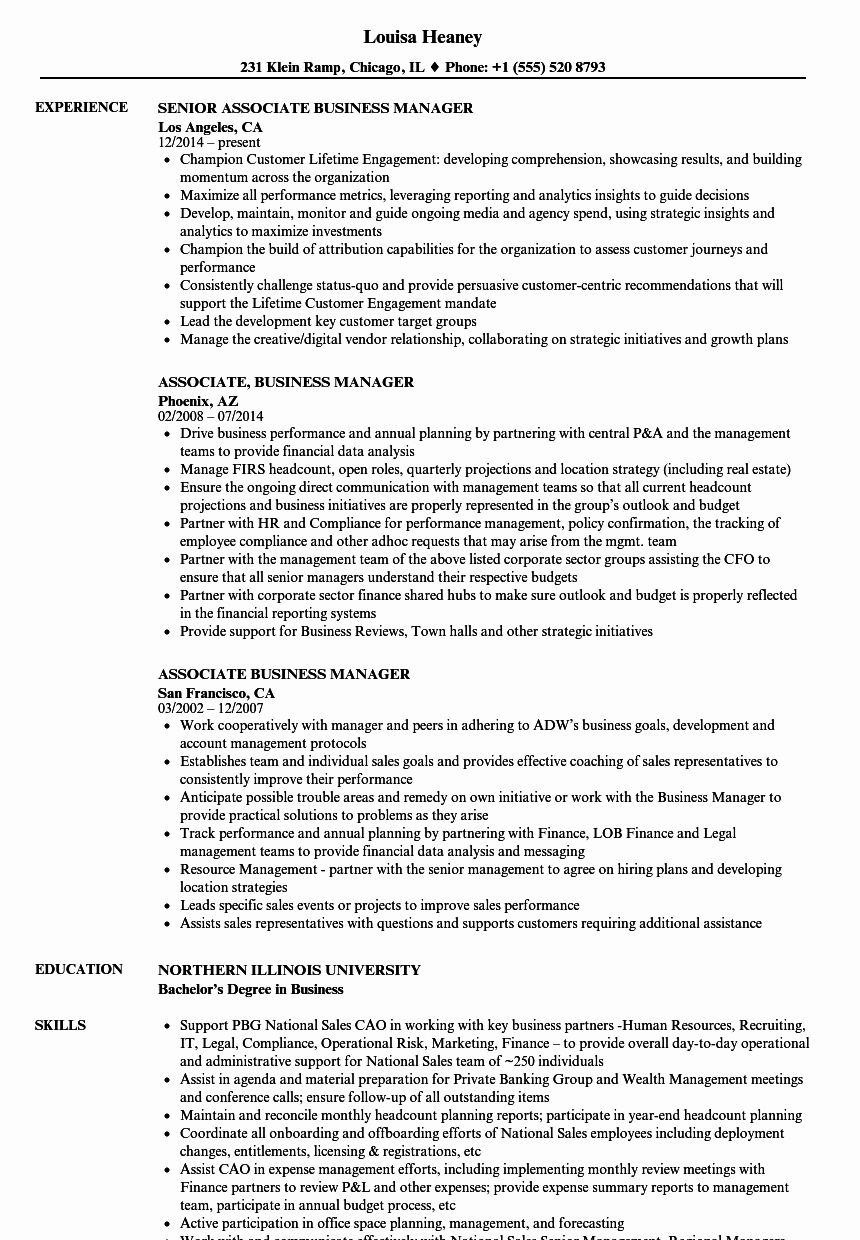 business management resume examples lovely associate manager samples project analyst good Resume Business Manager Resume
