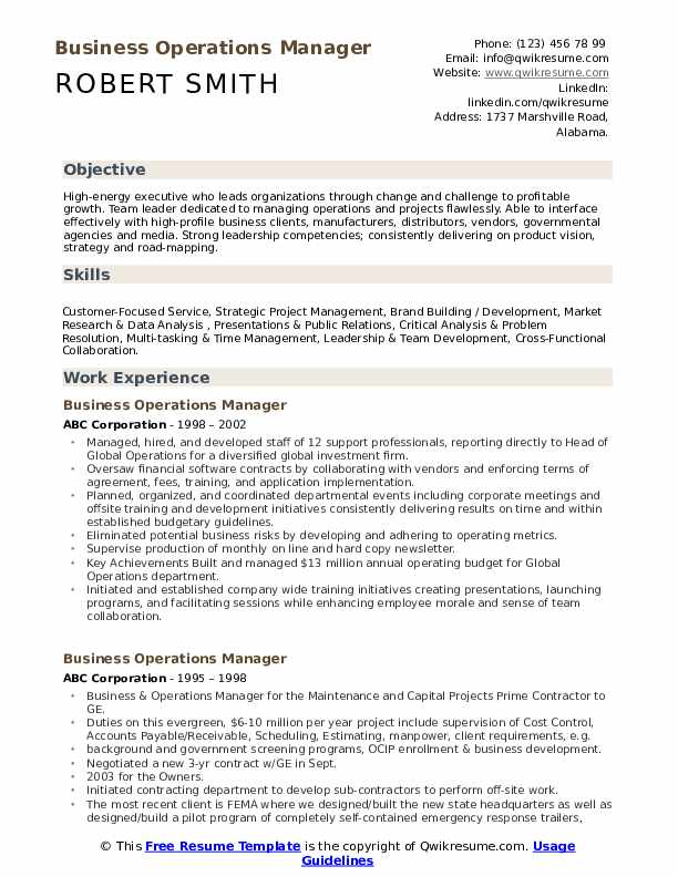 business operations manager resume samples qwikresume summary for pdf entry level help Resume Operations Manager Summary For Resume