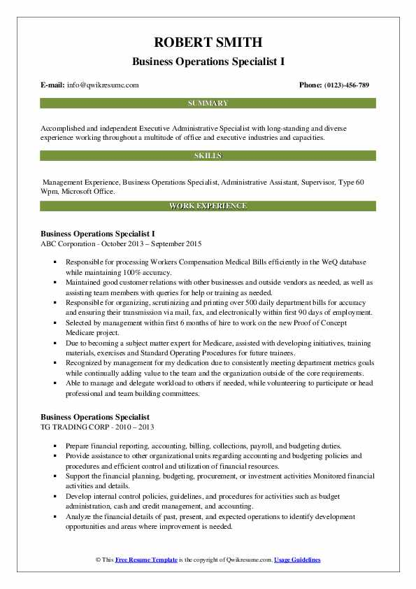 business operations specialist resume samples qwikresume pdf college freshman examples Resume Business Operations Specialist Resume