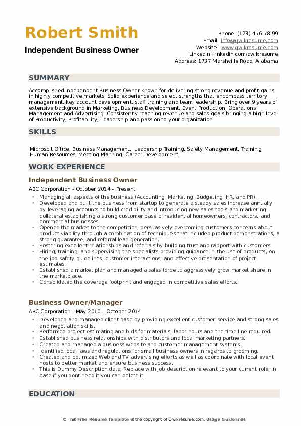 business owner resume samples qwikresume template pdf english federal example sample for Resume Business Owner Resume Template
