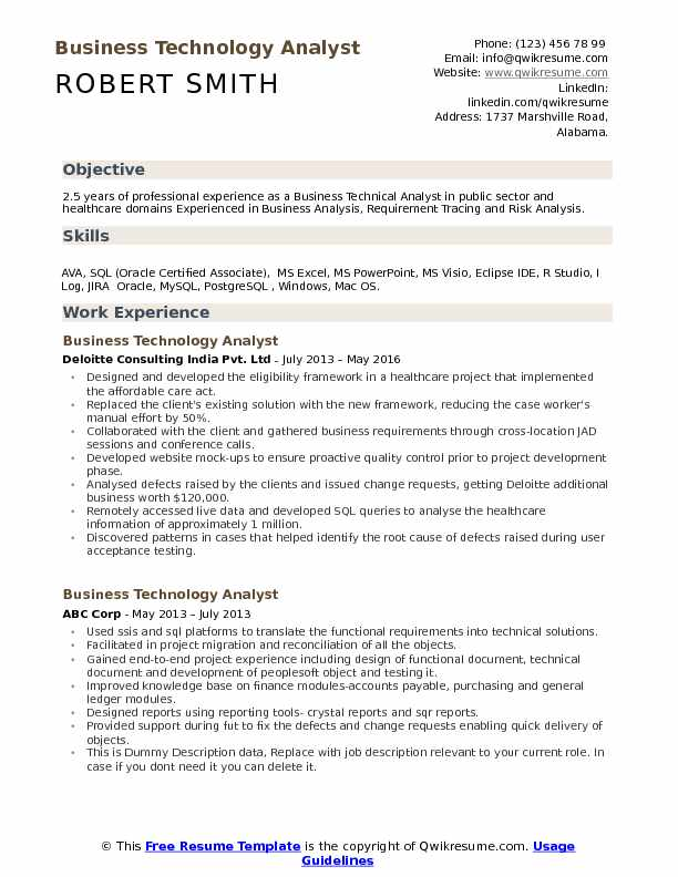 business technology analyst resume samples qwikresume information sample pdf military Resume Information Technology Business Analyst Resume Sample